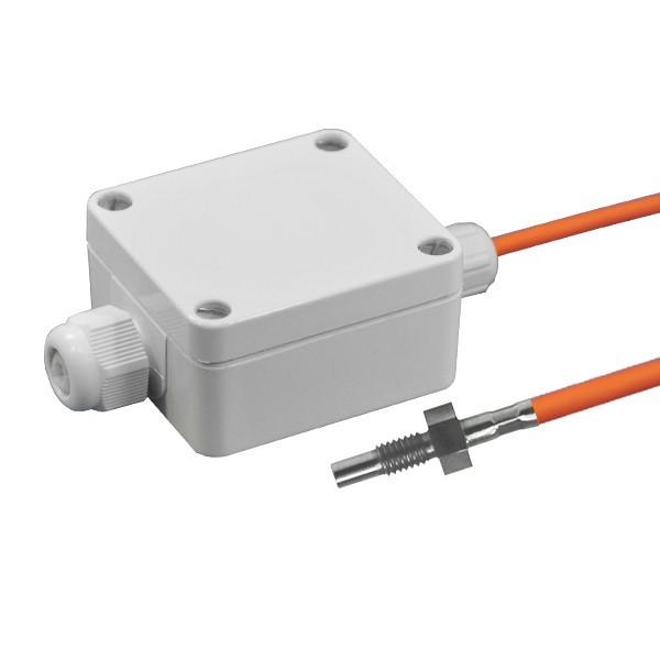 Einschraubfühler M6 aktiv mit Messumformer, 0-10V und 4-20mA Ausgang, Leitungslänge wählbar