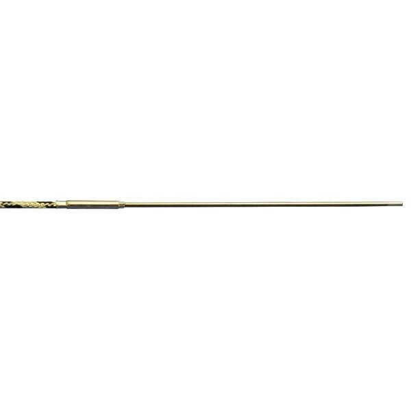 Mantelthermoelement Typ J bis 850°C mit Miniaturstecker und Glasseide bis 400°C