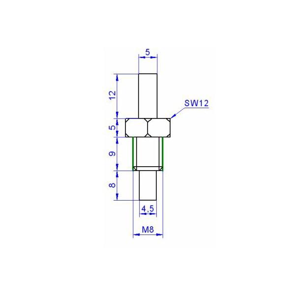 0-10V LEITUNGSLÄNGE WÄHLBAR EINSCHRAUBFÜHLER M4 TEMPERATURFÜHLER AKTIV 4-20mA