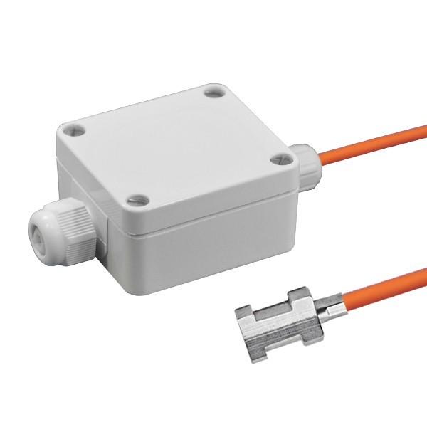 Rohranlegefühler aktiv mit Messumformer, 0-10V und 4-20mA Ausgang, Leitungslänge wählbar