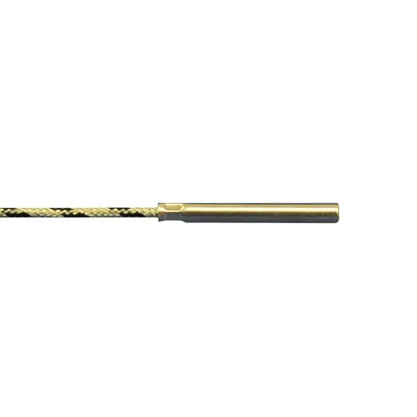 6x50mm Rauchgasfühler FeCu-Ni Typ J mit Glasseideleitung bis 400°C