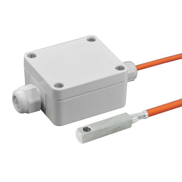 Oberflächenfühler aktiv mit Messumformer, 0-10V und 4-20mA Ausgang, Leitungslänge wählbar