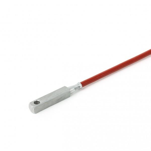 6x6x30mm Anlegefühler bis 200°C mit M4 Bohrung Leitungslänge und Sensor wählbar